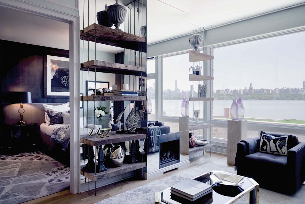 Living Room - The Pearl:  Living room by Joe Ginsberg Design