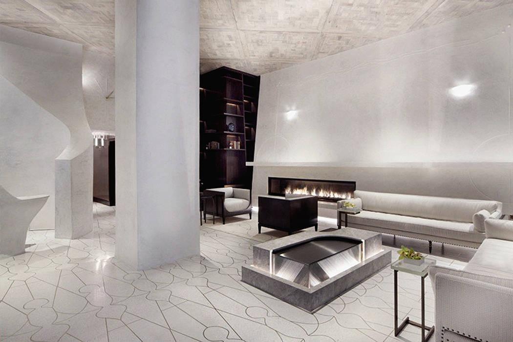 Joe Ginsberg Design Hotel Modern Beige