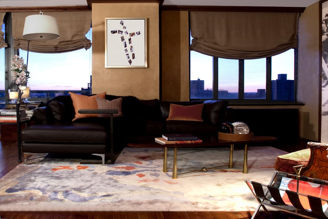 Living Room by Joe Ginsberg Design Eclectic