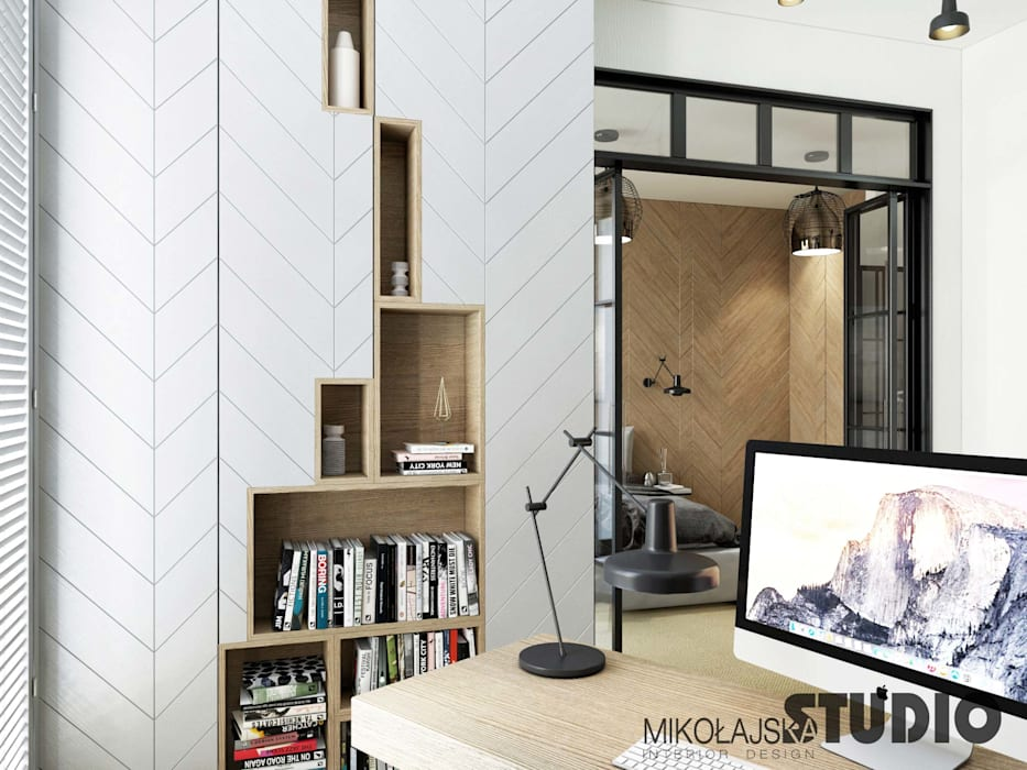 Modern Study Room and Home Office by MIKOLAJSKAstudio Modern
