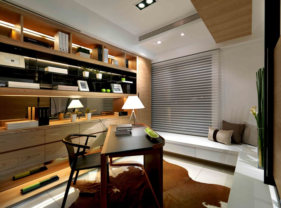 簡單溫暖的幸福:  商業空間 by 伏見設計事業有限公司,