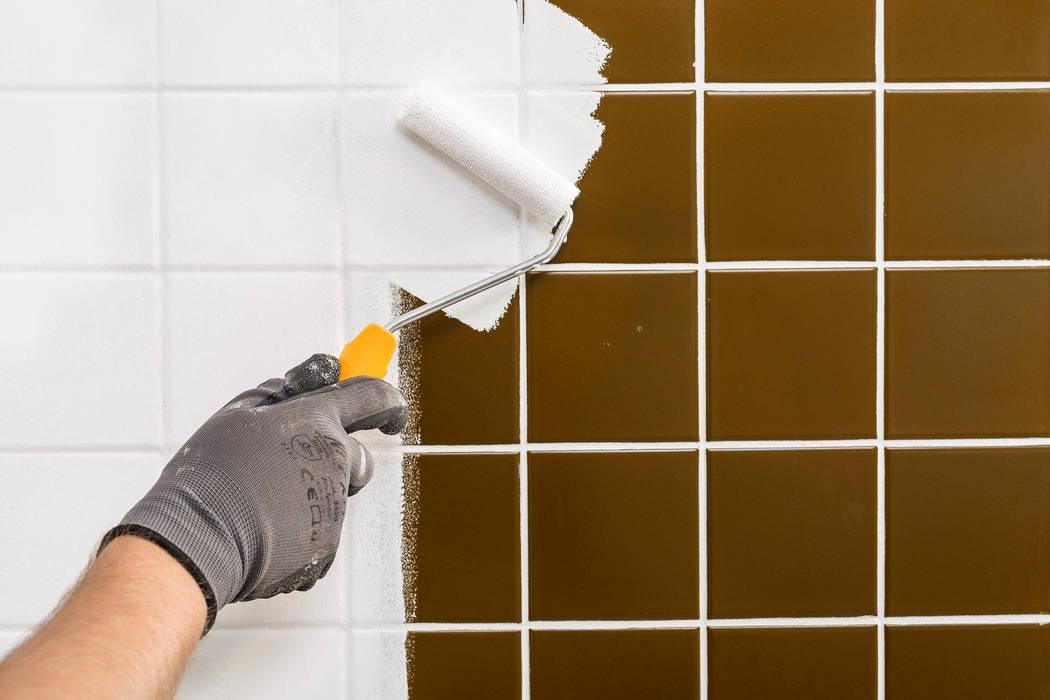 Fliesen streichen mit aqua fliesenlack: badezimmer von paul ...