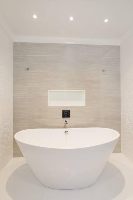 Master Bathroom with Free standing vessel tub Modern Bathroom by HOMEREDI Modern Quartz