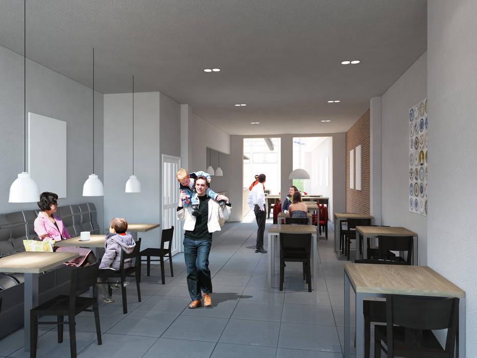 3D Visuals Moderne kantoorgebouwen van halma-architecten Modern