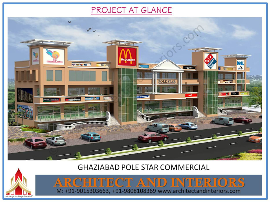 Ghaziabad Pole Star commercial :  Commercial Spaces by Absolute Architect and Interiors