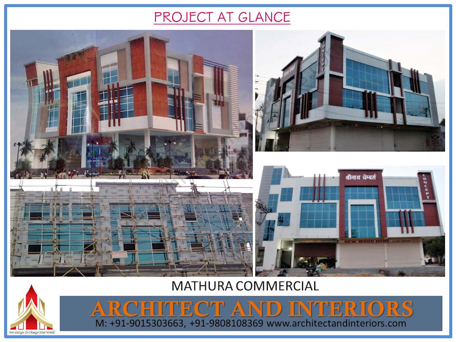 Mathura commercial :  Commercial Spaces by Absolute Architect and Interiors