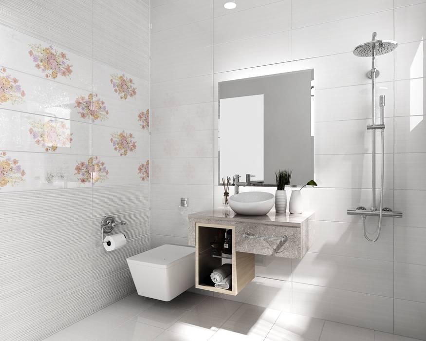 房屋新建 整修修繕 農舍別墅 景觀工程 homify 浴室 磁磚 White