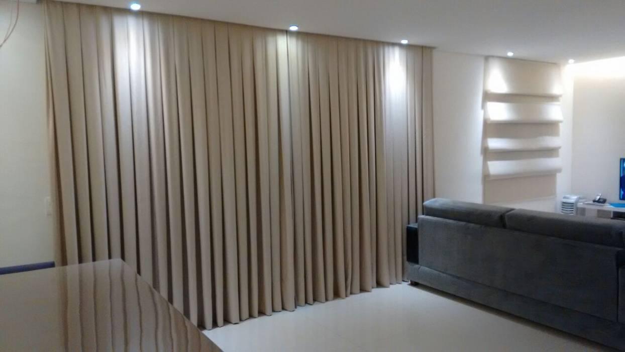 Cortina sala de estar por samira prado moda casa homify for Cortinas para sala de estar