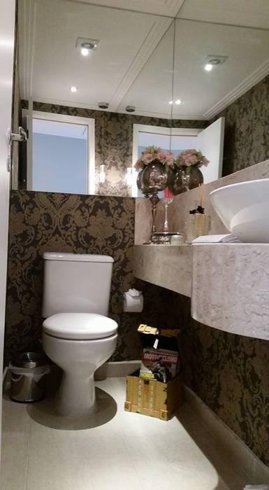 Samira Prado Moda Casa Salle de bainRobinets Papier Noir