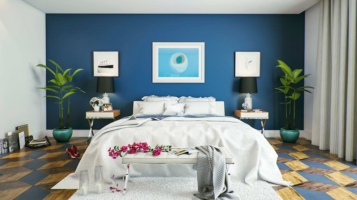 m.frahat Minimalistische Schlafzimmer
