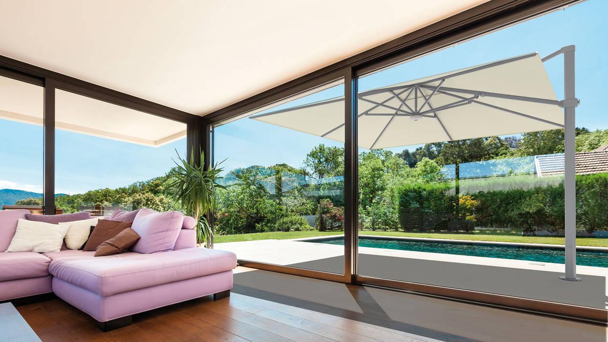 Solero Palestro Zweefparasol 4x4:  Tuin door Solero Parasols