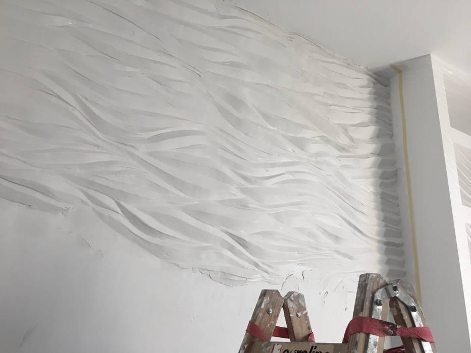 Wellen Fur Die Wand Die Individuelle Wandgestaltung Badezimmer