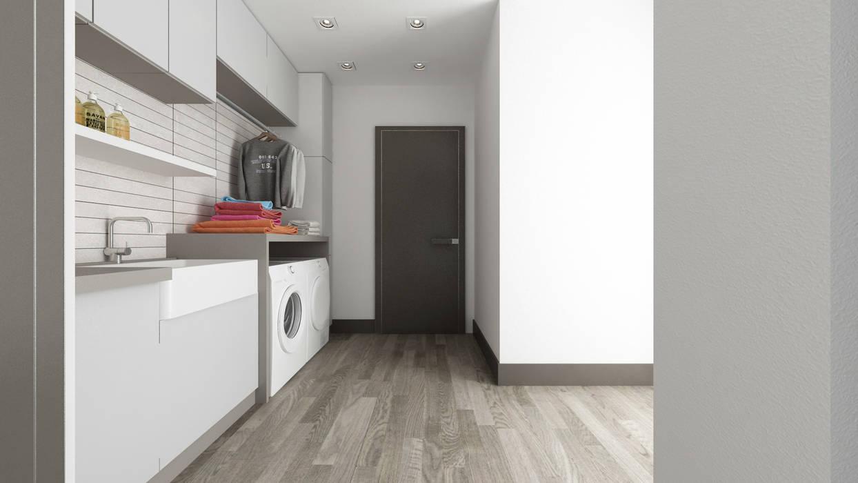 Villa CA: Spogliatoio in stile  di De Vivo Home Design, Moderno