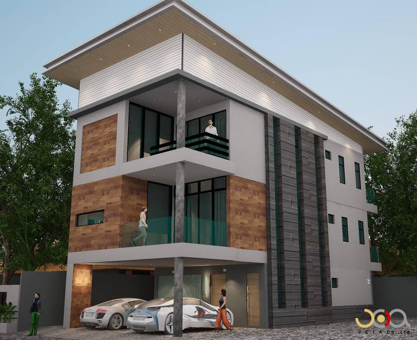 บ้านพักอาศัยสามชั้น ม.สัมมากร:  บ้านและที่อยู่อาศัย by jcia co.,ltd