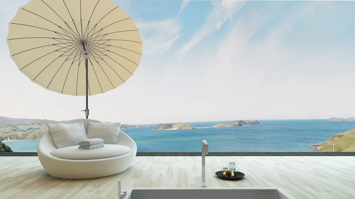 Solero Parasols JardinMeubles Aluminium/Zinc Blanc