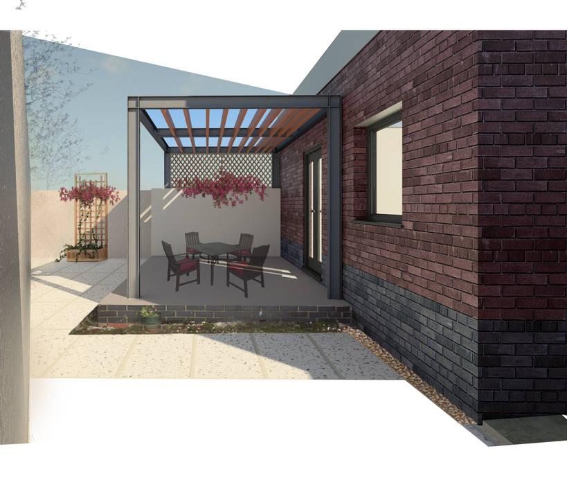 Steel Pergola:  Garden by architecture:unknown