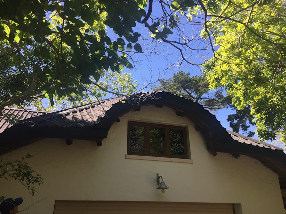 Curved dorma window in flexible roof tiles:  Houses by Cintsa Thatching & Roofing, Modern Tiles
