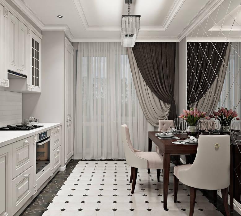 Дизайн двухкомнатной квартиры в стиле неоклассика Кухня в классическом стиле от GM-interior Классический