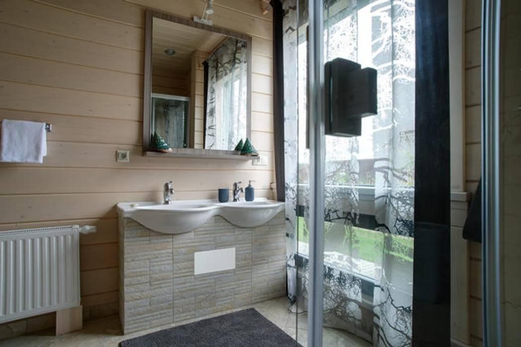 現代浴室設計點子、靈感&圖片 根據 GOOD WOOD 現代風