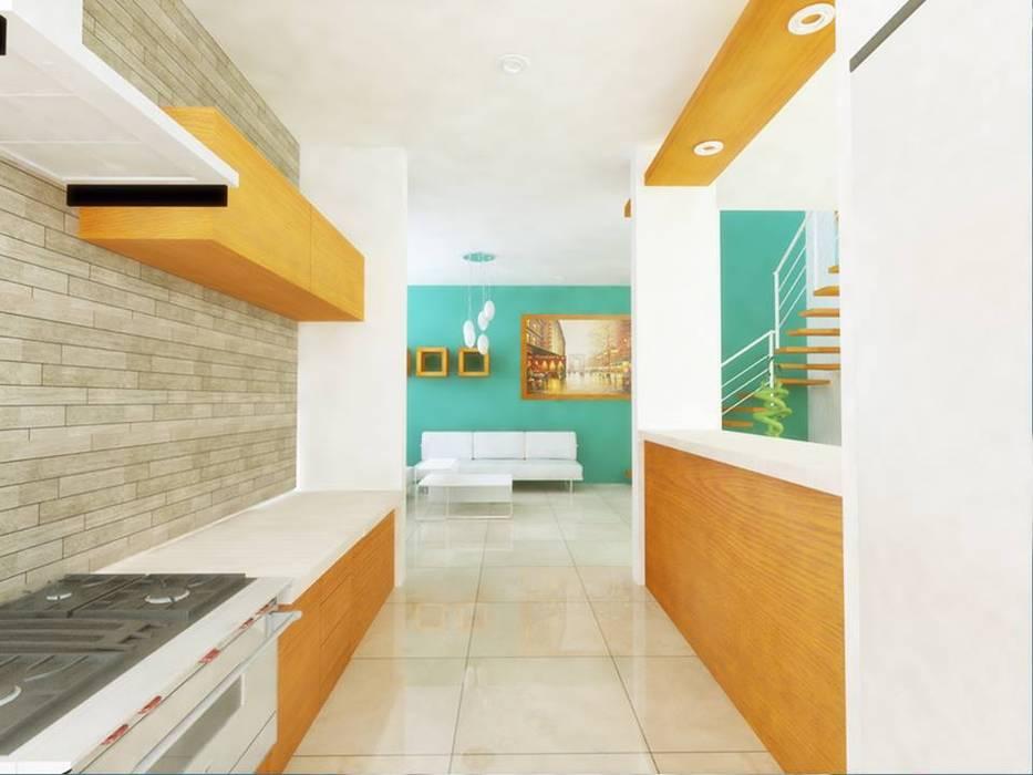 Dapur Minimalis Oleh DLR ARQUITECTURA/ DLR DISEÑO EN MADERA Minimalis