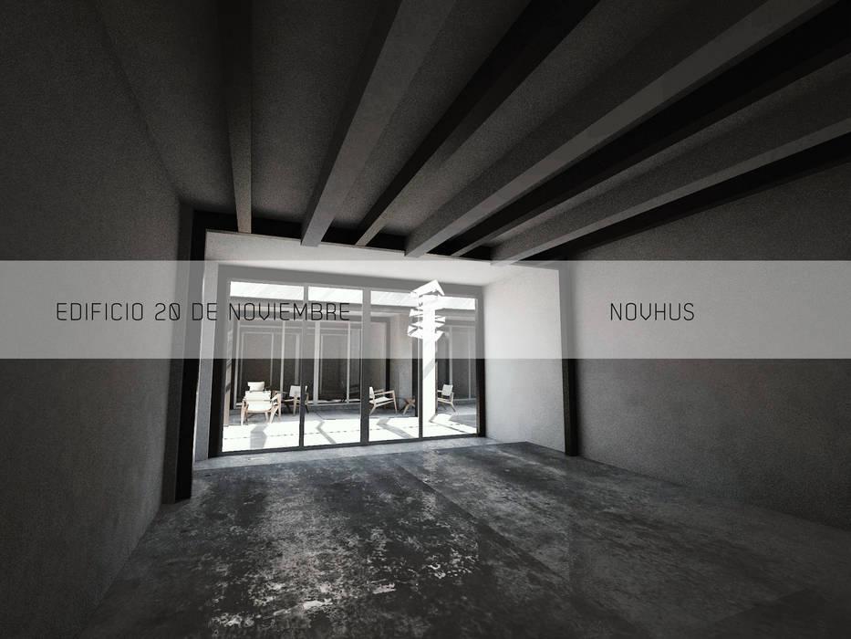 LOCAL CON REFUERZO ESTRUCTURAL : Espacios comerciales de estilo  por Novhus Oficina de Arquitectura