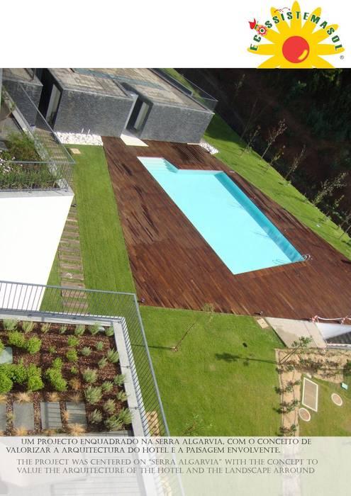 Longevity Hotel Monchique Hotéis modernos por Ecossistemas Moderno
