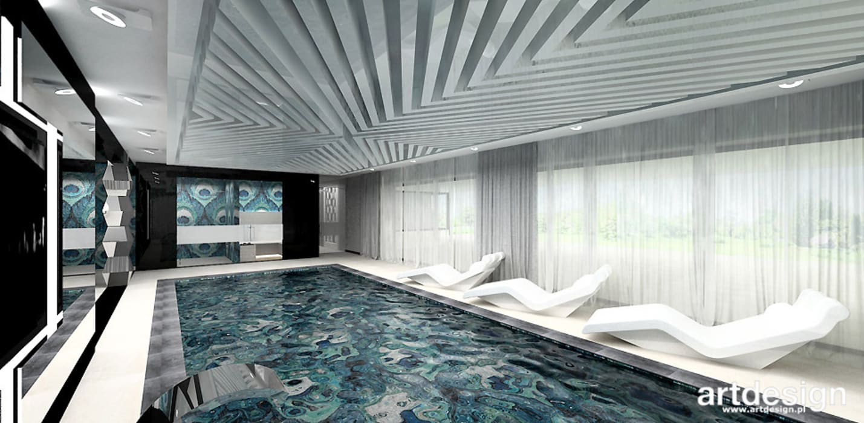 projekt domu z basenem: styl , w kategorii Basen zaprojektowany przez ARTDESIGN architektura wnętrz,Nowoczesny