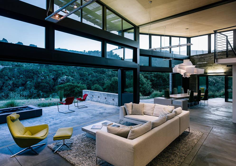 Butterfly House Modern Living Room by Feldman Architecture Modern