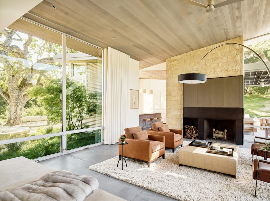 Ranch O|H:  Living room by Feldman Architecture