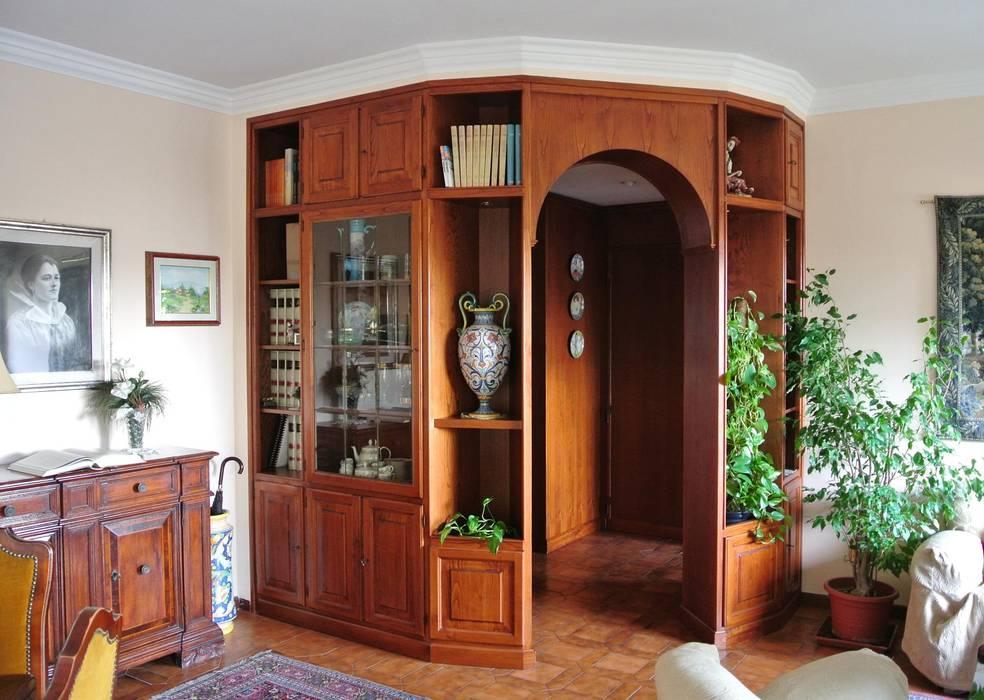 Libreria Classica Soggiorno.Libreria Classica Per Soggiorno In Legno Su Misura