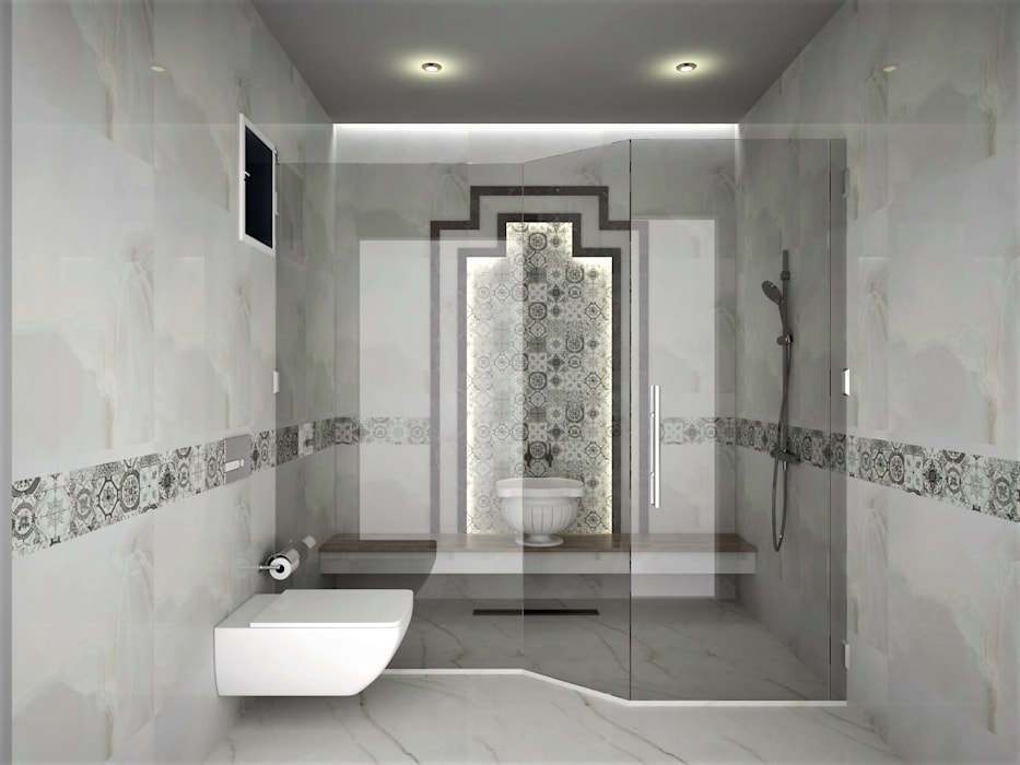 Salle de bain scandinave par Murat Aksel Architecture Scandinave Marbre