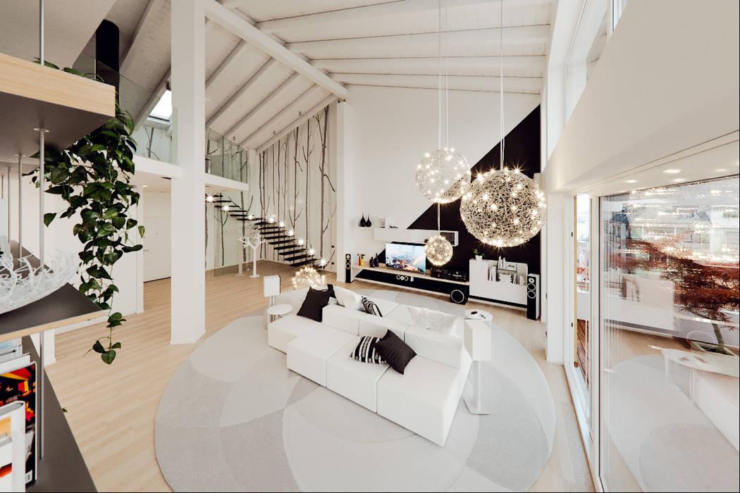 Soggiorno Moderno A Milano.Un Attico In Stile Loft In Milano Soggiorno Moderno Di Annalisa