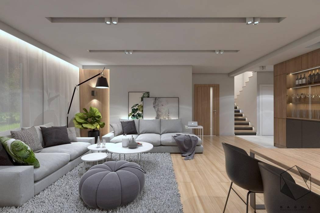 Projekt domu jednorodzinnego 12 Nowoczesna kuchnia od BAGUA Pracownia Architektury Wnętrz Nowoczesny