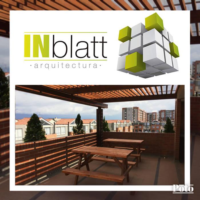 Diseño Arquitectónicoy Construcción Area Social Reserva de Mallorca Et. I Balcones y terrazas de estilo moderno de INblatt _Arquitectura Moderno Madera maciza Multicolor