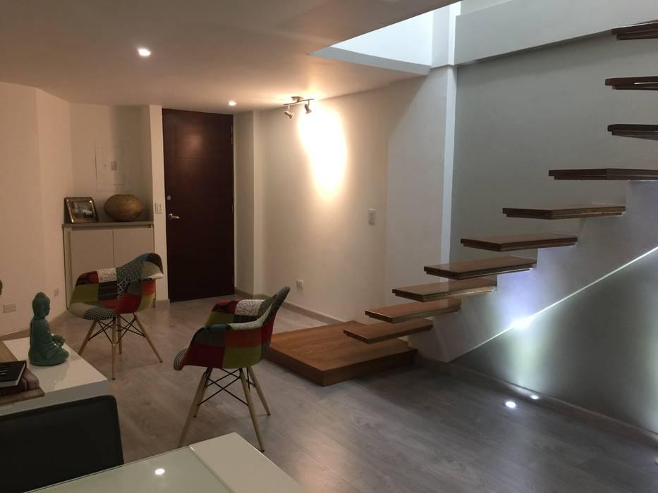 Diseño Arquitectónico y Remodelación Apartamento Loaiza - Rangel: Pasillos y vestíbulos de estilo  por INblatt _Arquitectura