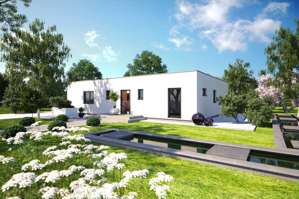 現代房屋設計點子、靈感 & 圖片 根據 Bärenhaus GmbH - das fertige Haus 現代風