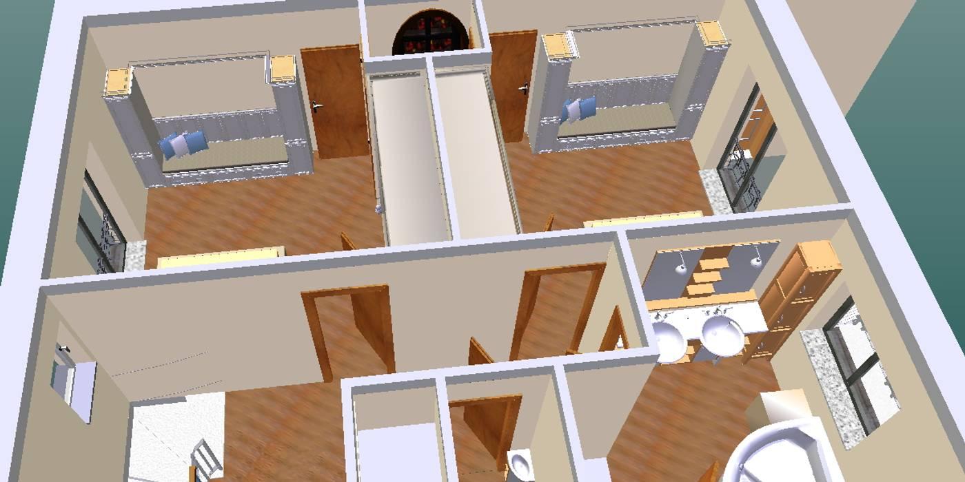 Quarto enfants-3D1: Quartos de criança  por D O M   Architecture interior,