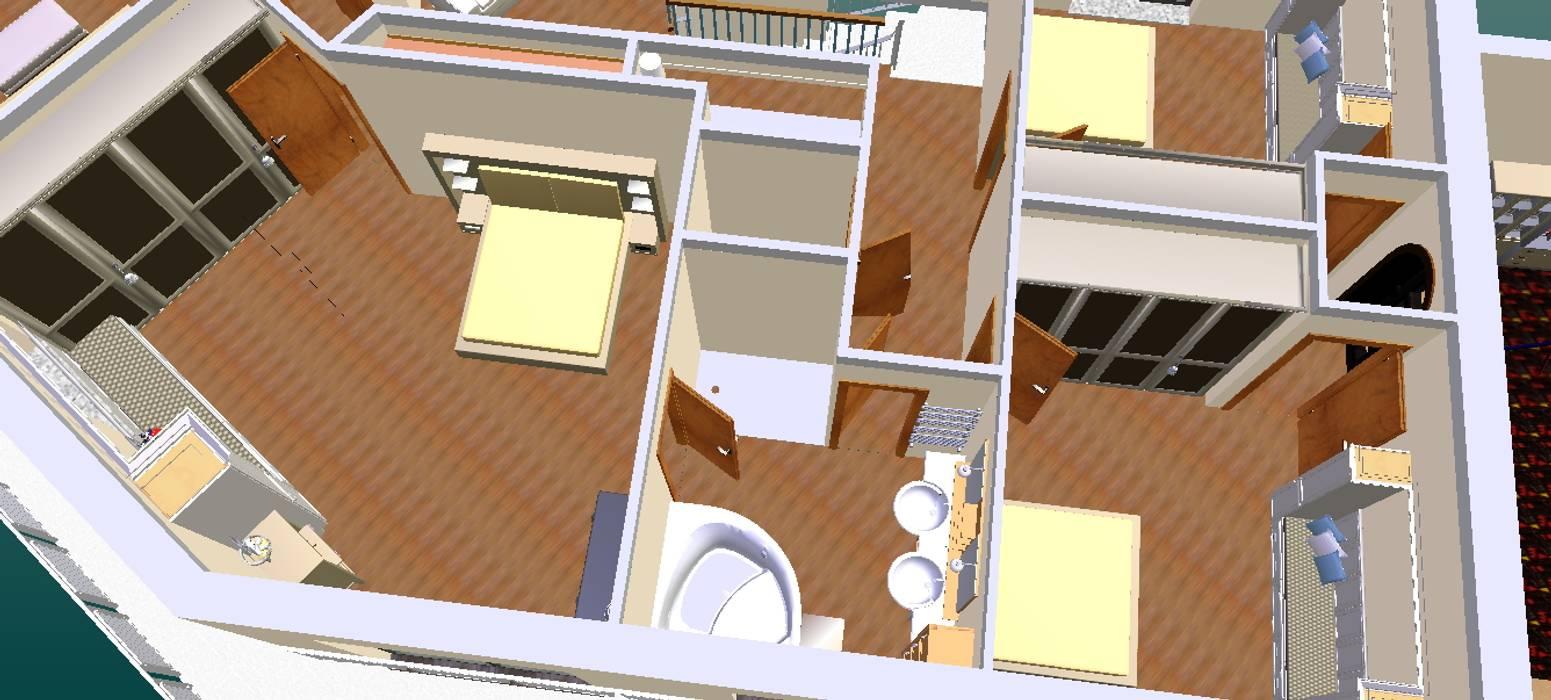 Quarto enfants-3D2: Casas de banho  por D O M | Architecture interior,
