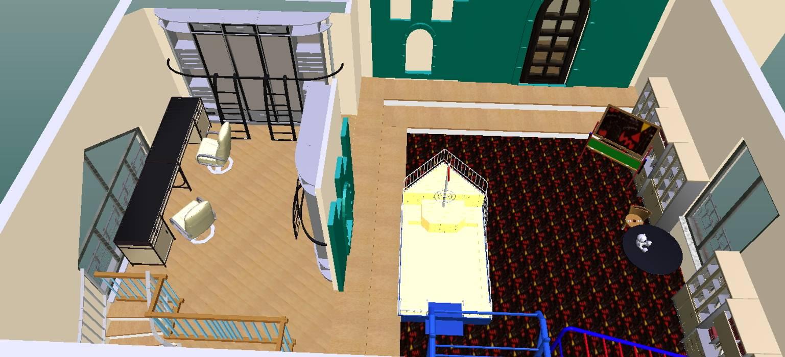 Parque infantil-3D-1: Escritórios e Espaços de trabalho  por D O M | Architecture interior,