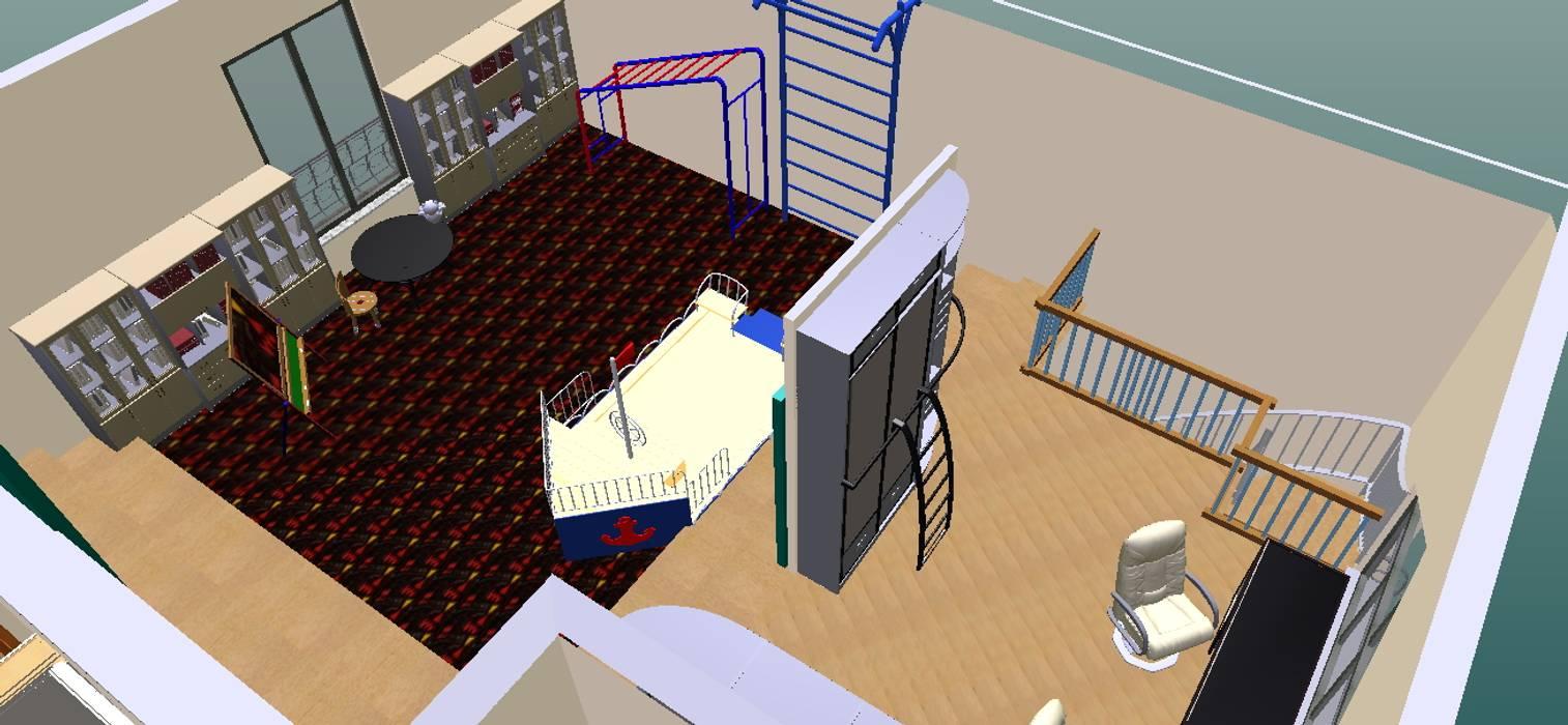 Parque infantil-3D-2: Escritórios e Espaços de trabalho  por D O M | Architecture interior
