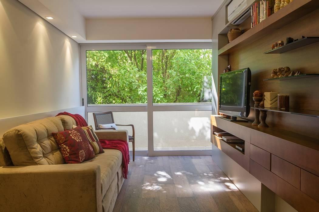 Apartamento S204 Salas de estar rústicas por Bloco Z Arquitetura Rústico