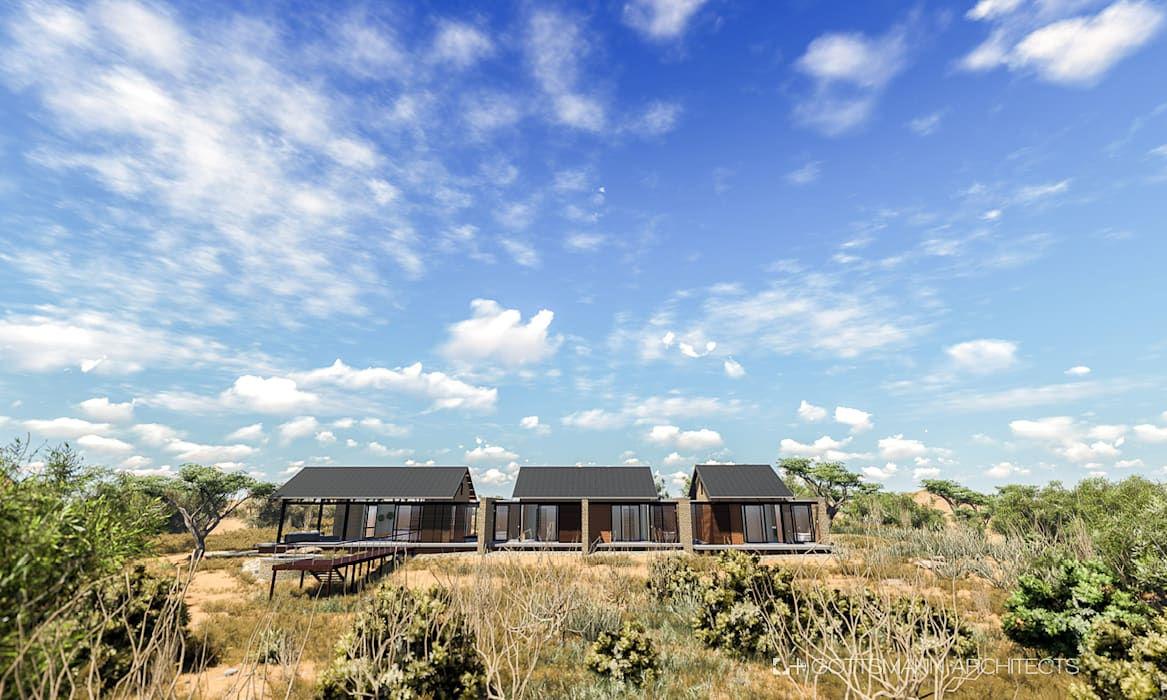 Game lodge:  Houses by Gottsmann Architects, Country