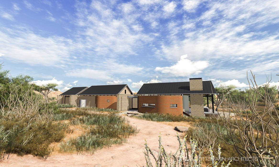Farm house Rustic style house by Gottsmann Architects Rustic Bricks
