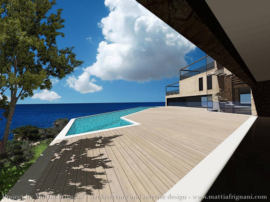 Villa fronte mare - Corfu: Case in stile in stile Moderno di mattia frignani
