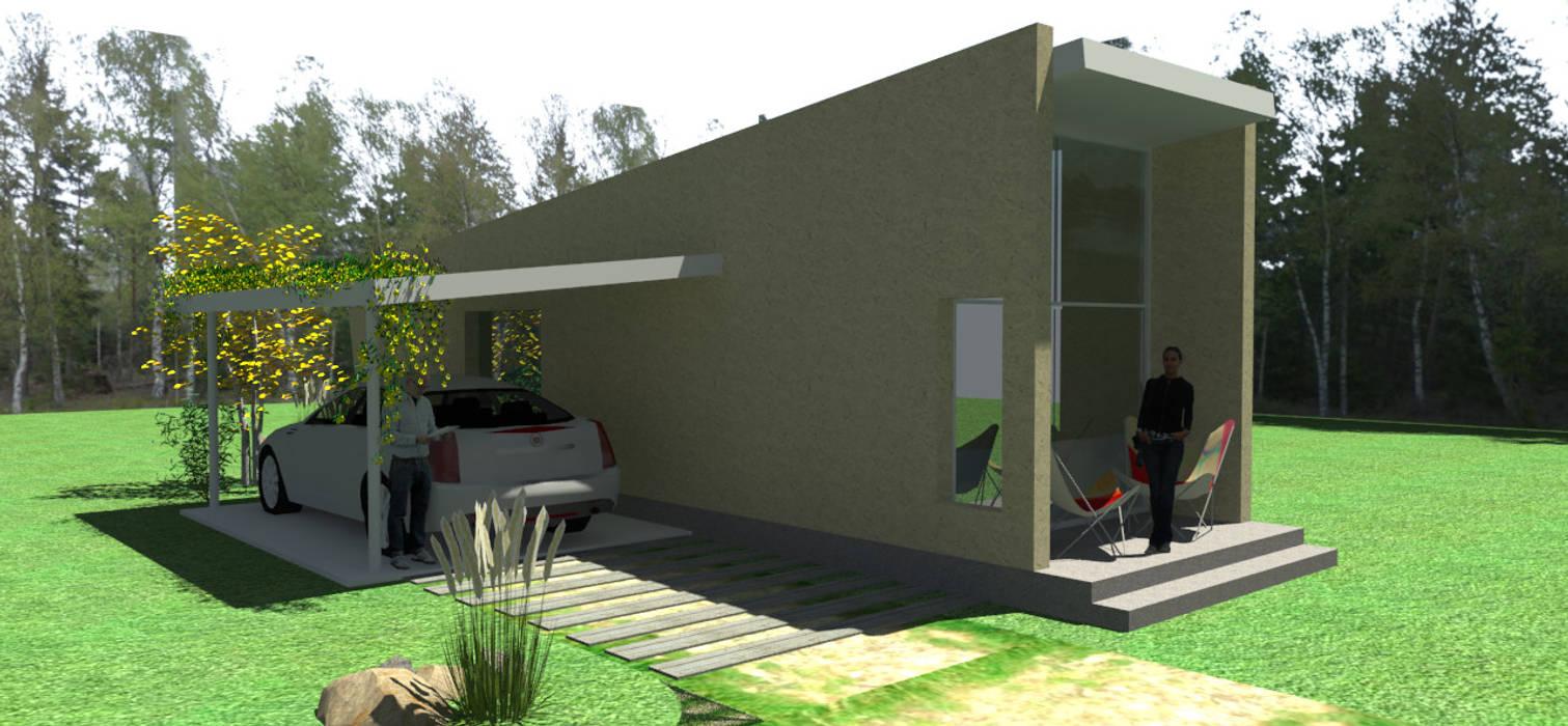 CASA DE HUÉSPEDES Casas minimalistas de ARQUITECTURA FENG SHUI Minimalista