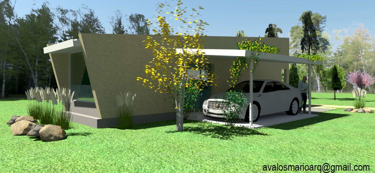 CASA DE HUÉSPEDES : Casas de estilo minimalista por ARQUITECTURA FENG SHUI