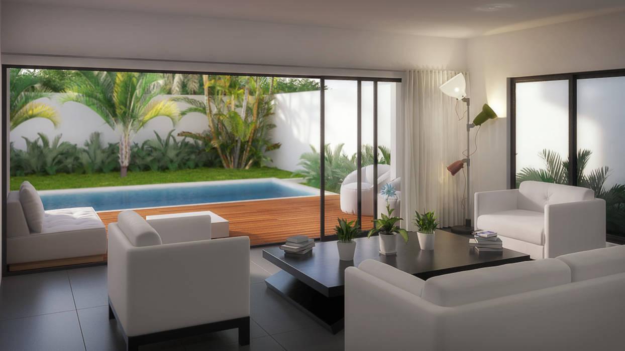 Sala/Terraza: Salas de estilo minimalista por Taller Veinte