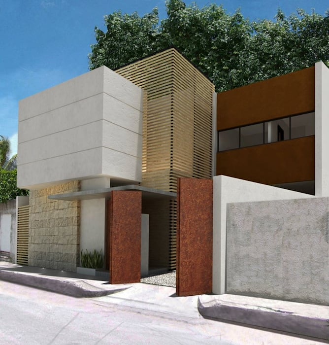 Houses by FRACTAL CORP Arquitectura, Modern