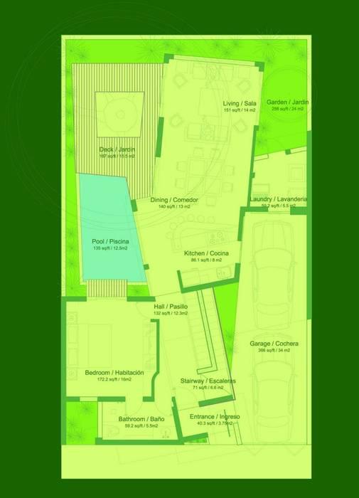 บ้านและที่อยู่อาศัย โดย FRACTAL CORP Arquitectura, โมเดิร์น
