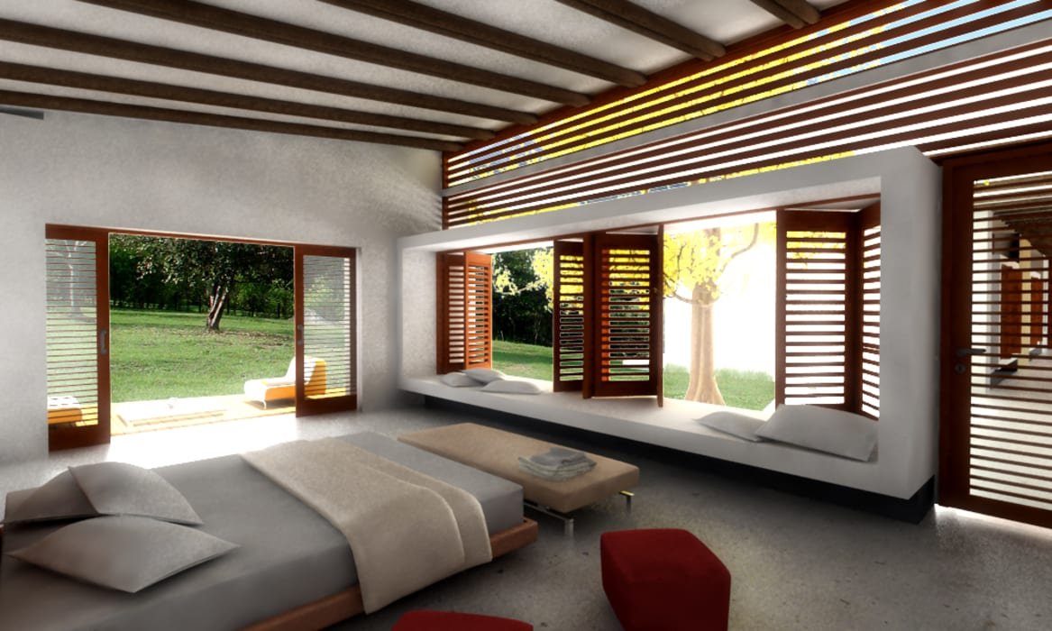 CASA L1 _ San Jerónimo Antioquia: Casas de estilo  por @tresarquitectos, Minimalista